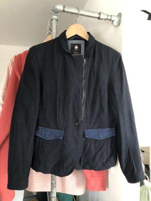 Gstar Blazer in jeans blu scuro-grigio ardesia