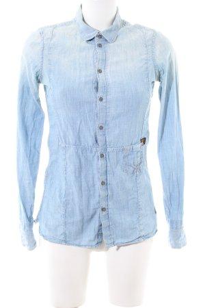 G-Star Jeansbluse blau Farbverlauf Casual-Look