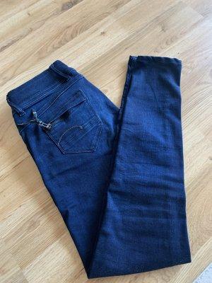 Gstar pantalón de cintura baja azul oscuro-azul