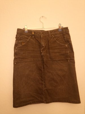G-Star Jupe en jeans noir-gris anthracite