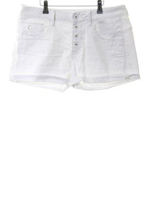 G-Star Pantaloncino di jeans bianco-bianco sporco applicazione del logo