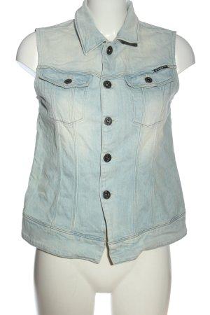 G-Star Gilet en jean bleu style décontracté