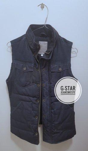 G-Star Chaleco de tela vaquera azul oscuro