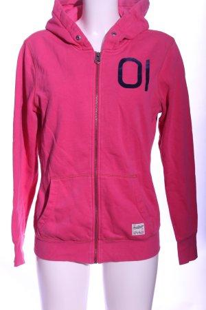 G-Star Kapuzensweatshirt pink Schriftzug gedruckt Casual-Look
