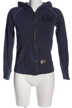 G-Star Hooded Sweatshirt blue flecked casual look