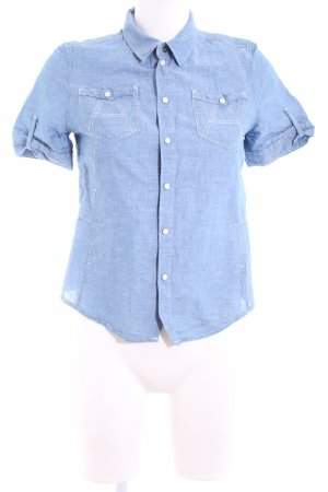 G-Star Kurzarmhemd blau Casual-Look