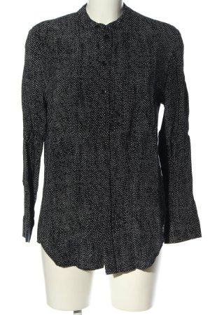 G-Star Langarm-Bluse schwarz-weiß Allover-Druck Casual-Look