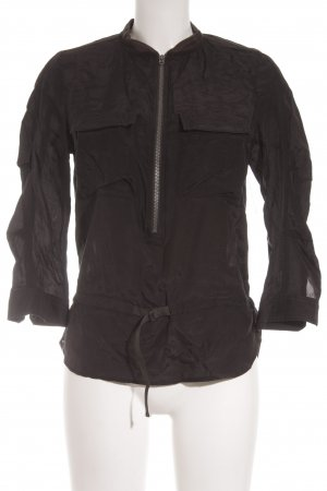 G-Star Langarm-Bluse schwarz Glanz-Optik
