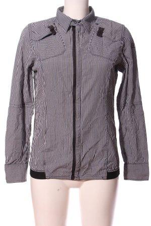 G-Star Langarmhemd schwarz-weiß Allover-Druck Casual-Look