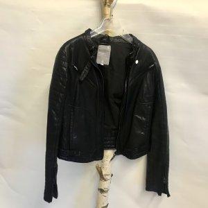 G-Star Veste en cuir noir cuir