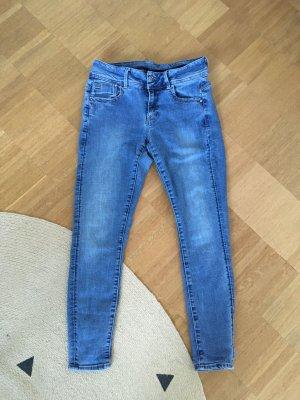 G-Star Jeansy o obcisłym kroju niebieski-ciemnoniebieski Bawełna