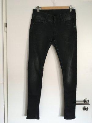 G-Star Jeans skinny noir-gris clair coton