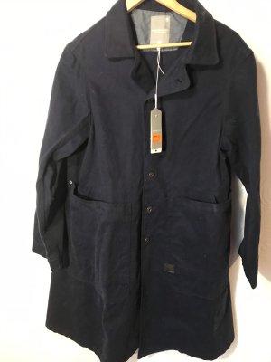 Gstar Oversized jas donkerblauw Katoen