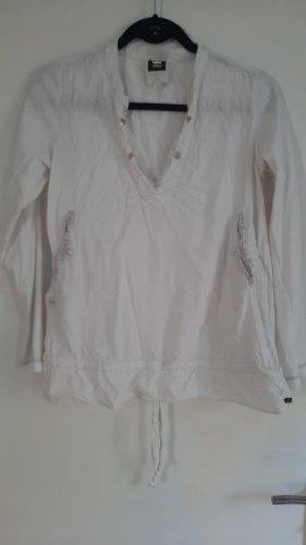 G-Star Raw T-shirt col en V blanc cassé
