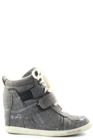G-Star Raw Zapatillas con tacón gris claro Patrón de tejido look casual