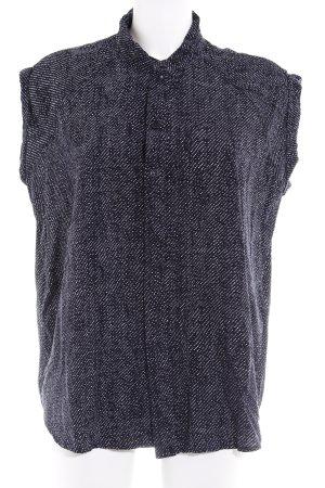 G-Star Raw ärmellose Bluse schwarz Punktemuster Casual-Look