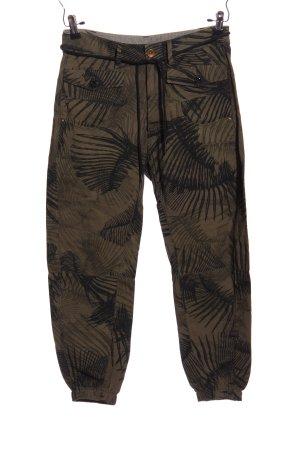 G-Star Raw Pantalon «Baggy» brun-noir motif de fleur style décontracté