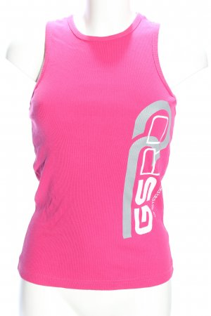 G-Star Raw Basic Top pink printed lettering casual look