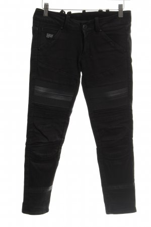 G-Star Raw Jeansy typu biker czarny Tkanina z mieszanych włókien
