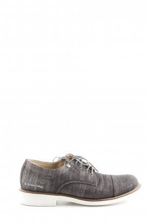 G-Star Raw Wingtip Shoes light grey flecked casual look