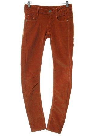 G-Star Raw Pantalon en velours côtelé cognac style hippie