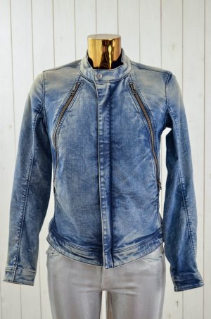 G-STAR RAW Damen Jeansjacke Mod.LYNN ANSEM SLIM JACKET Denim Bikerstyle Gr.S