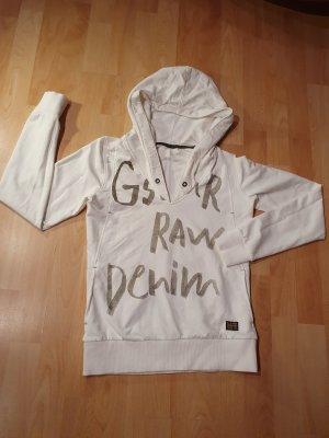 G-Star Raw Maglione con cappuccio bianco-bianco sporco