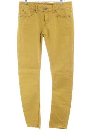 G-Star Raw Pantalon cinq poches orange doré style décontracté
