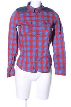 G-Star Raw Flanellhemd rot-blau Karomuster Business-Look