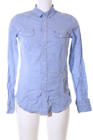 G-Star Raw Hemd-Bluse blau Business-Look