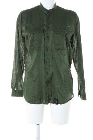 G-Star Raw Hemd-Bluse grün Business-Look