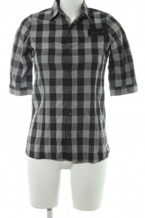 G-Star Raw Hemd-Bluse graugrün-schwarz Karomuster Casual-Look