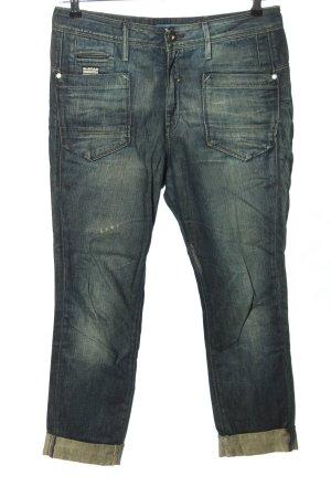 G-Star Raw High Waist Jeans blau Street-Fashion-Look