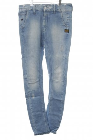 G-Star Raw Hoge taille jeans blauw casual uitstraling