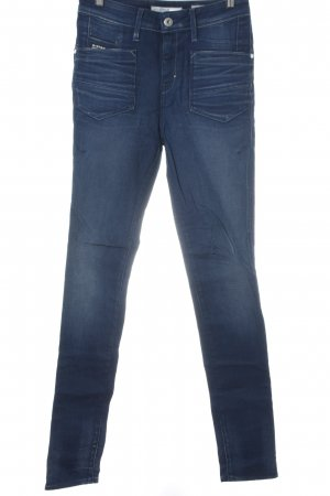 G-Star Raw Hoge taille jeans donkerblauw casual uitstraling