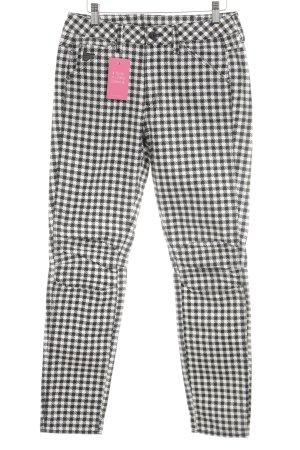G-Star Raw Hoge taille jeans zwart-wit geruite print extravagante stijl