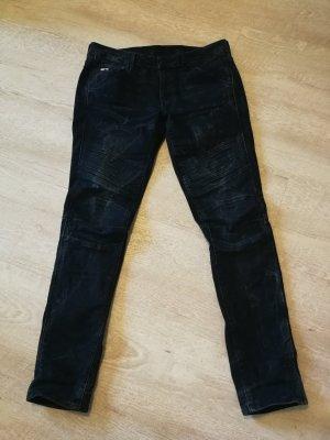 G-Star Raw Jeansy z prostymi nogawkami ciemnoniebieski