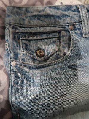 G-Star  RAW Jeans, bleached, süßes Münztäschchen, geknöpft, Bundbreite 45