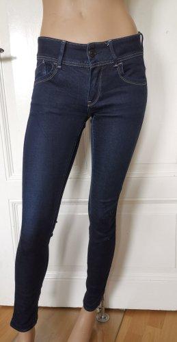 G-Star Raw Jeans Röhrenjeans Stretch dunkelblau Gr. 26/32 leicht gekürzt