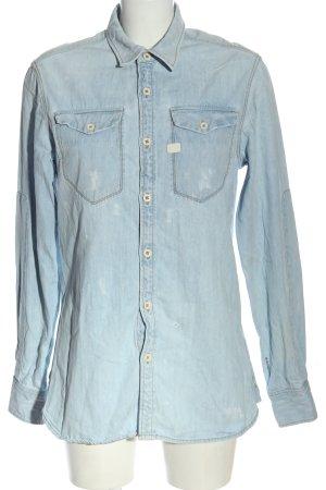 G-Star Raw Camisa vaquera azul look casual