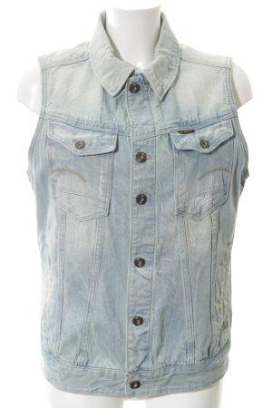 G-Star Raw Jeansweste blau-weiß Street-Fashion-Look