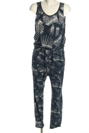 G-Star Raw Jumpsuit blau-weiß Allover-Druck Casual-Look
