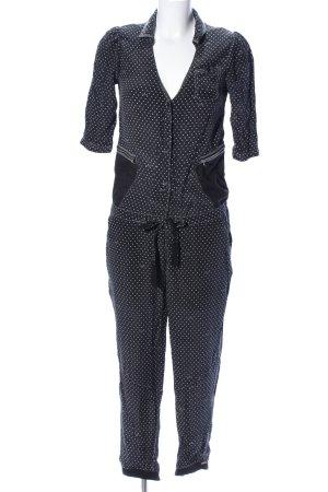 G-Star Raw Jumpsuit schwarz-weiß Punktemuster Casual-Look