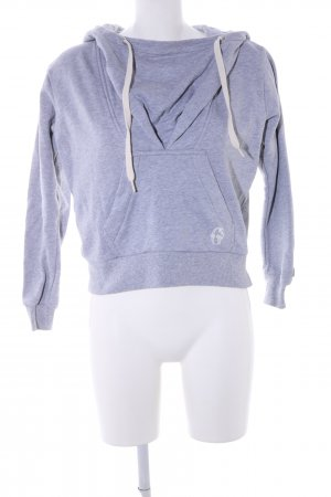 G-Star Raw Capuchon sweater lichtgrijs gestippeld casual uitstraling
