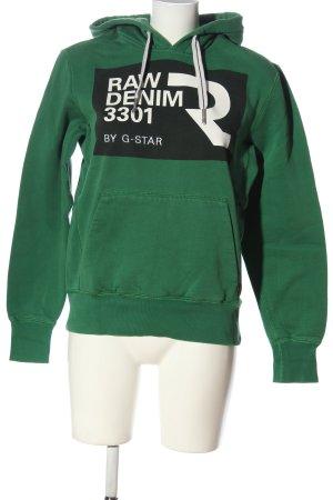 G-Star Raw Kapuzensweatshirt Motivdruck Casual-Look