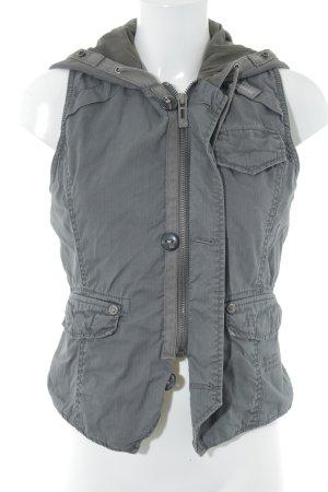 G-Star Raw Hooded Vest grey street-fashion look
