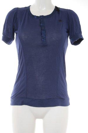 G-Star Raw Kurzarm-Bluse blau Elegant