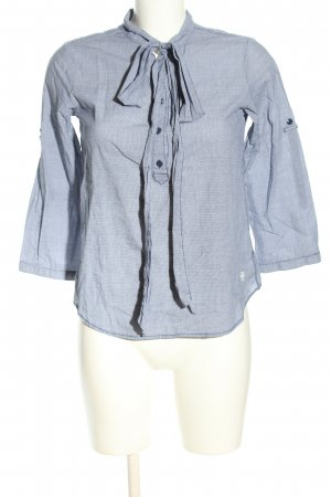G-Star Raw Langarm-Bluse blau Webmuster Business-Look