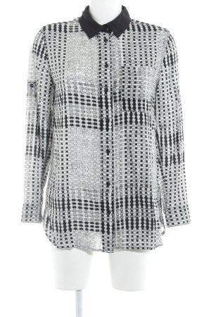 G-Star Raw Langarm-Bluse weiß-schwarz Karomuster Elegant