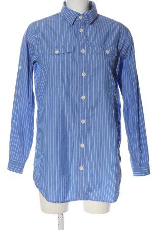 G-Star Raw Langarmhemd blau-weiß Allover-Druck Elegant